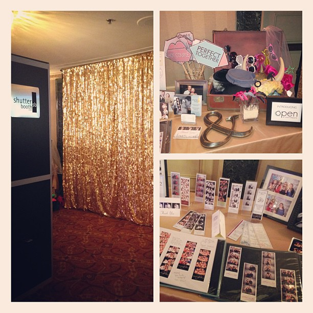 Gold Sequin Open Booth