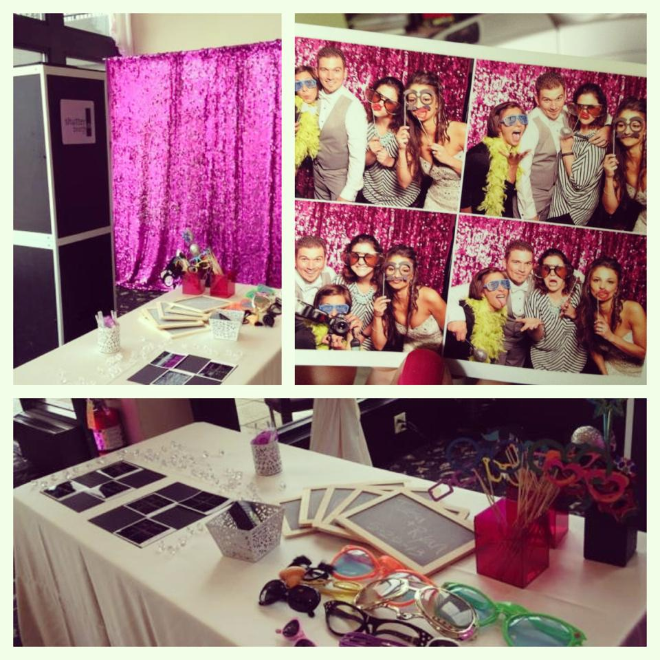 Pink Sequin Open Booth
