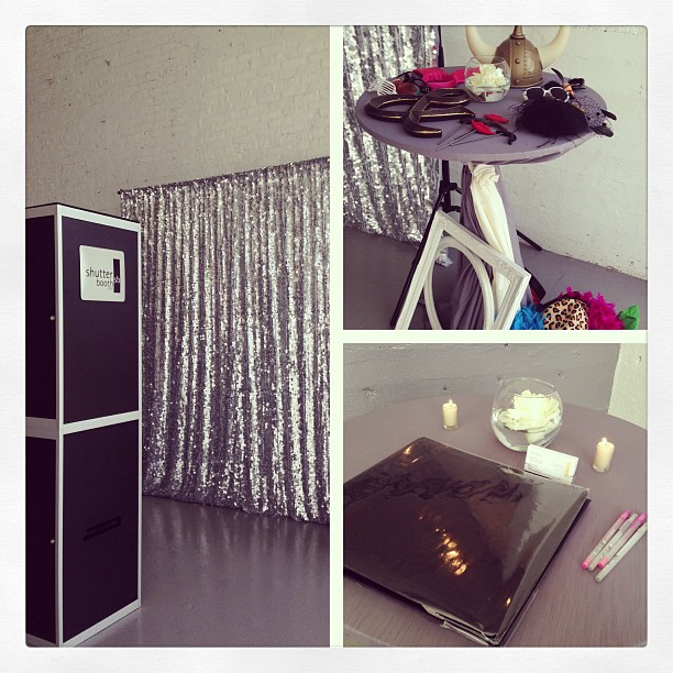Silver Sequin Open Booth
