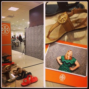 Tory Burch Open Booth with Custom Frames