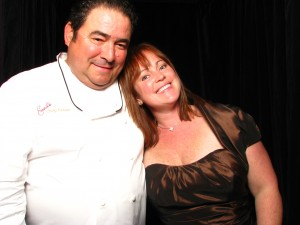 Emeril in the booth.  Bam!!!