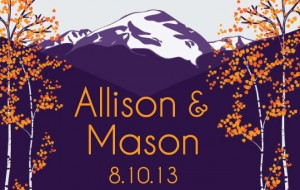 custom logo created for Allison and Mason printed on their ShutterBooth photo strips