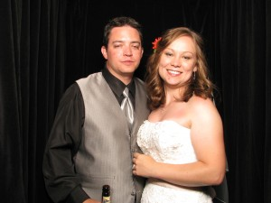 Mr and Mrs Mason in their ShutterBooth. Denver's Best Photo Booth for weddings!