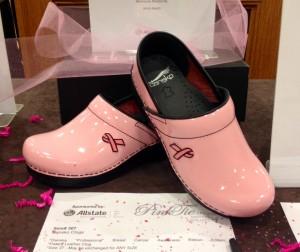 Pink Ribbon Clogs