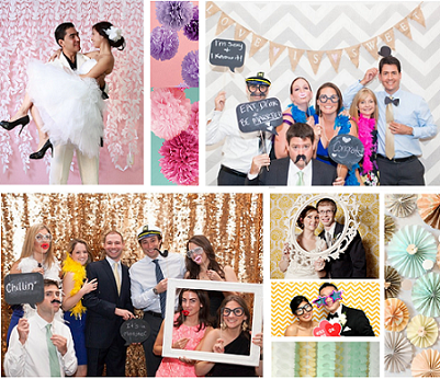 custom photo booth backdrop wedding milwaukee