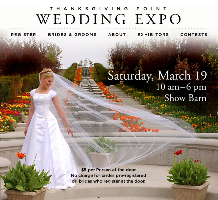 Come out and see us at the Thanksgiving Point Wedding Expo on Saturday
