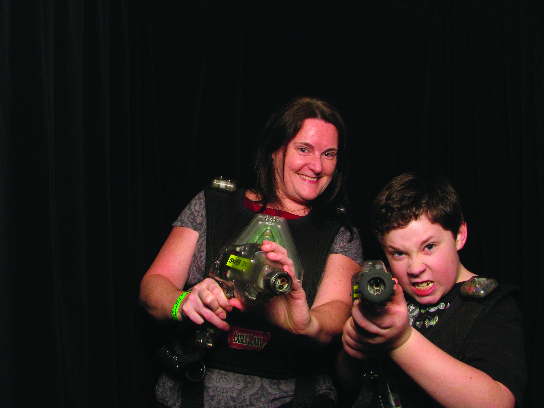 Mother Son Laser Tag Shutterbooth Detroit