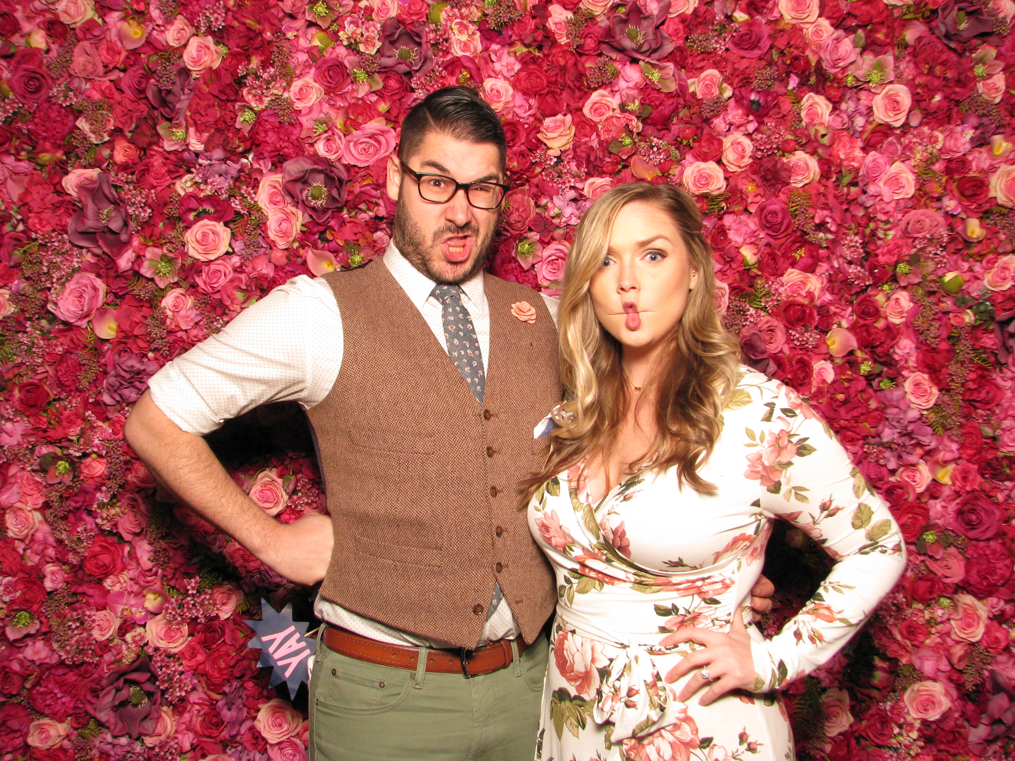 ShutterBooth Philadelphia Fred's Footsteps Urban Outfitters Navy Yard Philadelphia Nicol Floral Design Floral Backdrop 3