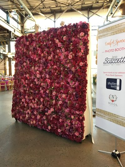 ShutterBooth Philadelphia Floral Backdrop Nicol Floral Design Freds Footsteps Navy Yard Urban Outfitters Philadelphia
