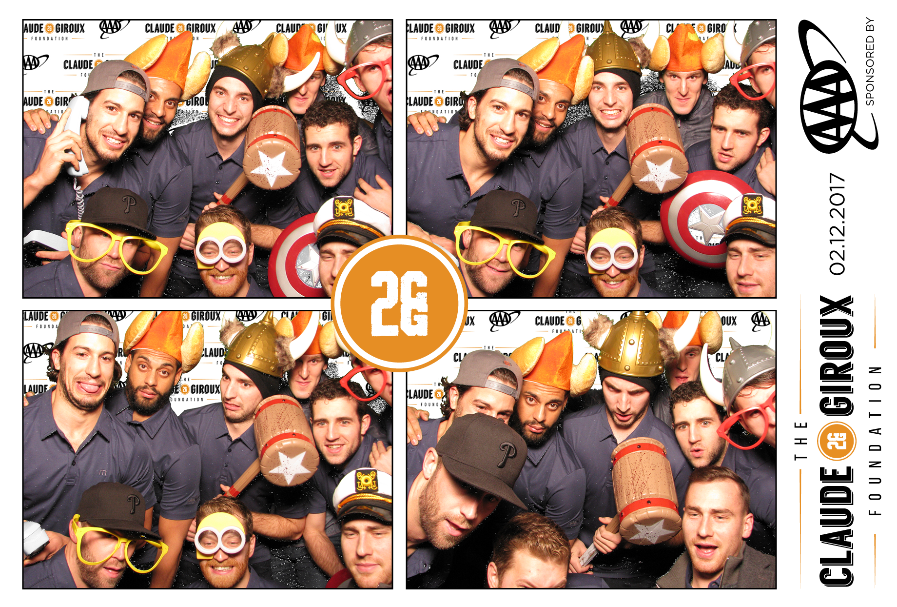 ShutterBooth Philadelphia Claude Giroux Foundation Grid 2